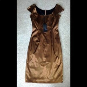 Dolce and Gabbana Collection Satin Copper Dress 40